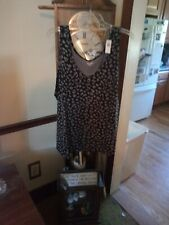 Women's Plus Size Old Navy Black With Gray Leopard Print Tank Top Size 3x