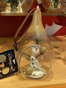 Ornament DANGLER BAUBLE Disneyland PARIS OLAF FROZEN THE NEW