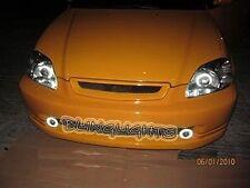 1996 1997 1998 1999 2000 Honda Civic Halo Fog Lamps Angel Eye Driving Lights Kit