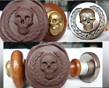 Wax  Seal bone skull – BRASS–  Memento Mori stamp