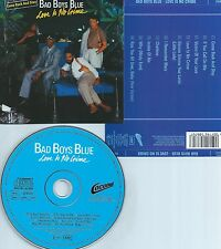 BAD BOYS BLUE-LOVE IS NO CRIME-1987-GERMANY-ARIOLA/COCONUT RECORDS 258 670-CD-M-