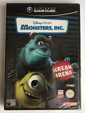 Gamecube Disney Pixar Monsters Inc Scream Arena, New & Factory Sealed, Flawed