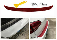 4D Auto Rear Bumper Trunk Tail Lip Carbon Fiber Protection Stickers Decal
