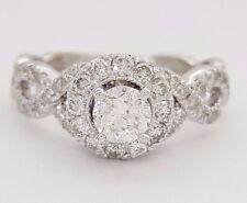 Neil Lane Bridal 1 ct 14K White Gold Round Cut Diamond Halo Engagement Ring