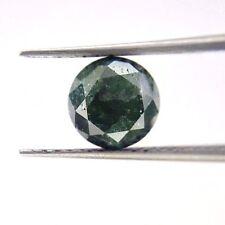 1.47TCW 6.7MM Round Brilliant cut Grayish Green Natural Diamond for Wedding Ring