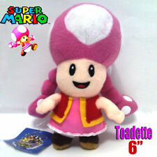 Super Mario Bros Plush Female Toadette U Brigade Member Toy Stuffed Animal 6""