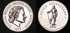 Netherlands Antilles 1977 FM 25 Gulden, Specimen Strike, Rare Mtg 2,000 Struck