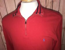 Polo Ralph Lauren Thick Cotton 1/4 Zip Pullover Pony Sweater w/Pockets Mens Sz S