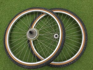 RETRO ARAYA 26 Inch MOUNTAIN BIKE WHEELS WITH TYRES       6/3