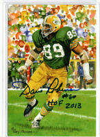 DAVE ROBINSON SIGNED GOAL LINE ART CARD HOF AUTOGRAPH  PACKERS