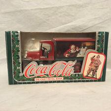 Vintage Coca Cola Diecast Metal Bank Truck Santa Claus Christmas 1993