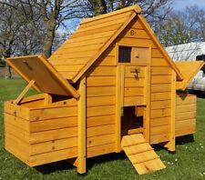CHICKEN COOP HEN POULTRY ARK HOUSE HUTCH RUN DOUBLE NEST BOX HUTCH