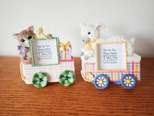 Lot of 2 Cat Lamb Picture Frames by Twos Two Company 2x2