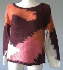 Mehrfarbige Damen-Pullover & -Strickware mit Rundhals-Ausschnitt in Größe 38