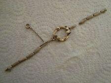 Ancien bracelet de montre à gousset femme en argent