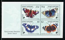 Singapore Scott #907 MNH S/S Butterflies FAUNA CV$6+