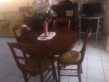 table à manger merisier + 4 chaises merisier table avec rallonge