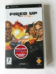 Fired Up ( Includes Wipe out Pure Demo ) SONY PSP game Complete FREE SHIPPING