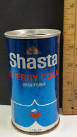 Shasta Cherry Cola Can Flat Pull Tab Top Consolidated Foods California Rare Vtg