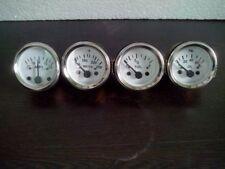 "2"" / 52mm Electrical Oil Pressure Temperature Amp Fuel Gauge -White Face"