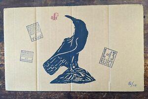 biilly childish blackbird one colour serigraph on cardboard ltd edition 5/10.