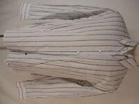 Armani Collezioni Mens Grey Stripe Long Sleeve Shirt XL