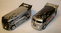Hot Wheels Customized VW Volkswagen Penske Drag Bus  Black/Silver Silver/Black
