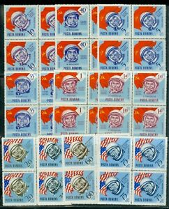 1964 Gagarin+Russian,American Cosmonauts,Space,Flag,Romania,Mi.2238,PERF.,MNH/x4