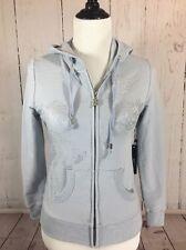 NWT BCBG Max Azria Bling Hoodie Zip Up Jacket Sweatshirt Size Medium $160