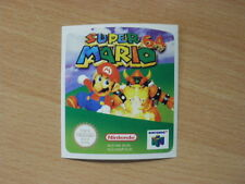 Nintendo 64 Mario 64 Replacement Label Decal Sticker Cartridge precut