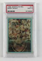 1986 Sportflics Rookies Barry Bonds #13 - PSA Mint 9 - Pirates