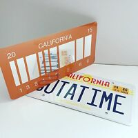 Back To The Future License Plate 2 pack (1986 OUTATIME + 2015 BARCODE versions)
