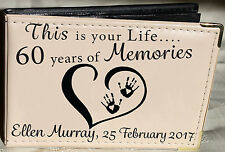 Personalised Photo Album,Memory book,This is your Life, 60th Birthday Gift,6 x 4