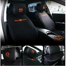 Car Seat Cover Black Head Back Memory Foam Cushion Pillow Support Pad 1Piece