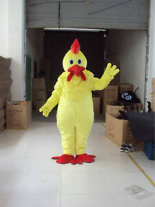 4 Colors Fancy Chicken Adult Mascot Costume Dress Party Wear Handmade Outfits A+