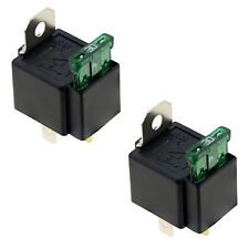 2 x 12V Automotive On/Off Fused Relay 30A 4-Pin
