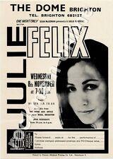 Julie Felix The Dome, Brighton 8/11/67 Flyer