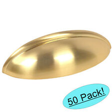 *50 Pack* Cosmas Cabinet Hardware Brushed Brass Bin Cup Handle Pulls #1399BB