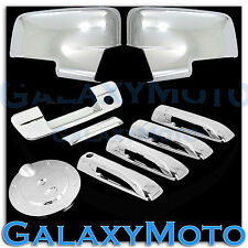 13-16 Dodge Ram Chrome Mirror w/Light+4 Door Handle+Tailgate w. KeyH+Gas Cover