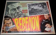 1967 Samurai Rebellion ORIGINAL MEXICAN LOBBY CARD Toshiro Mifune B