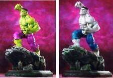 Bowen Designs Marvel Comics Green & Grey Hulk Set of 2 Mini Statues Gray Statue.