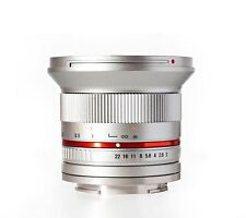 Rokinon 12mm F2.0 Ultra Wide Angle Lens for Samsung NX - Silver