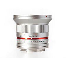 New Rokinon 12mm F2.0 Ultra Wide Angle Lens for Fuji X - Silver