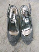 Sam Edelman Women's High Heel Size 7.5 Silver Metallic 7 1/2 Strap