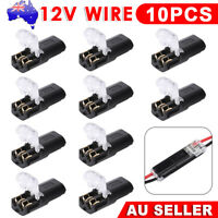 10X 12V WIRE CABLE TERMINAL CONNECTIONS JOINERS CAR AUTO SNAP PLUG IN CONNECTOR
