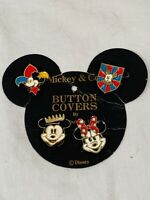 4 Vintage Walt DISNEY MICKEY MOUSE Honey Fashions Metal Button Covers