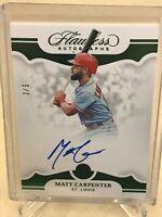 2019 Panini Flawless Baseball - Autograph - Matt Carpenter 3/5