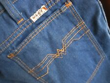 34x27 Fit True Vtg 70s Wrangler Disco Pocket Mens Bootcut Soft Denim Jeans Usa