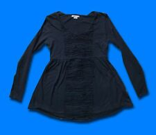 MAMAS & PAPAS..UK 12 / 14..WOMEN'S BELTED MATERNITY TOP JUMPER FLARED RUFFLED