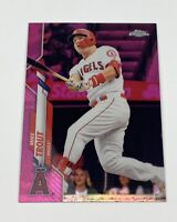 2020 Topps Chrome Mike Trout Pink Refractor SP #1 🔥